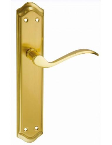 Juego de manivela para puerta con placa rustico