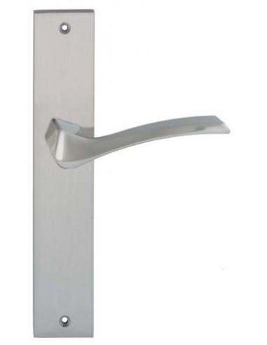 Juego de manivela  para puerta con placa