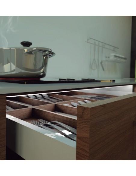 Barra led para cajones y armarios cocina con sensor