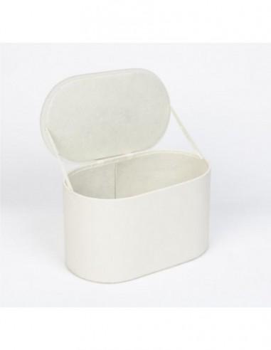 Caja organizadora blanco roto cuero sintético