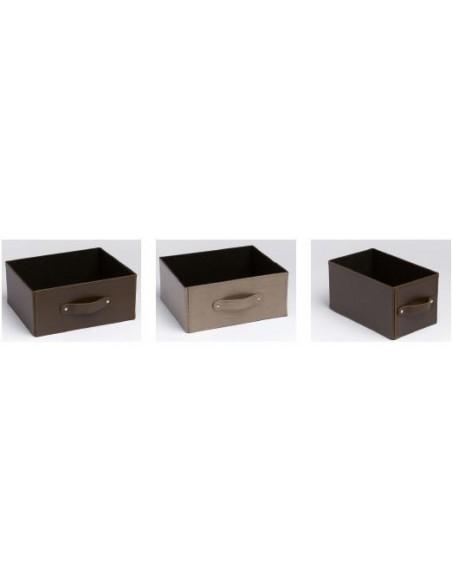 Caja cuero sintético color marrón o champagne varias medidas
