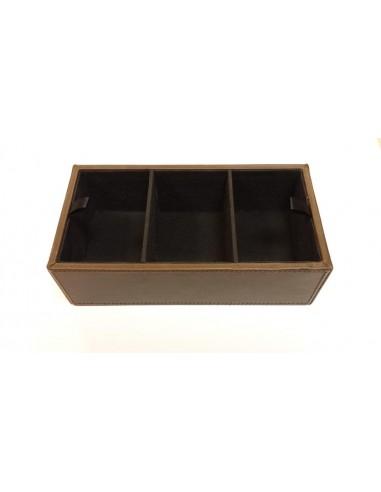 Caja joyero con departamentos cuero sintético