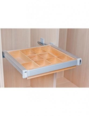 Organizador para armario de madera y aluminio
