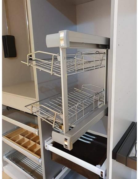 Zapatero lateral con dos estantes para interior de armarios